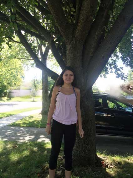 The favorite Bradford Pear of Emma in Summer 2015